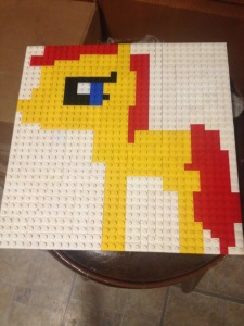 Jayme's flat LEGO picture