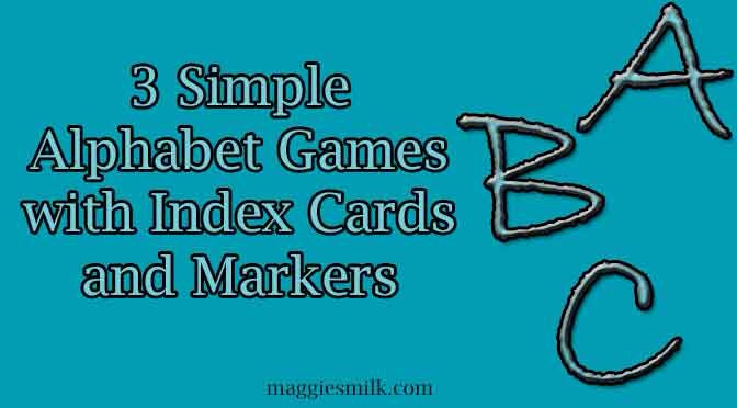 Three Simple Alphabet Games