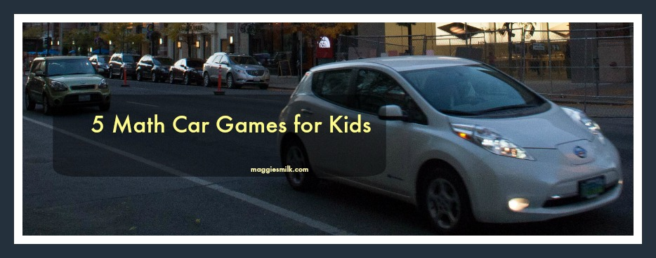 5 Math Car Games for Kids