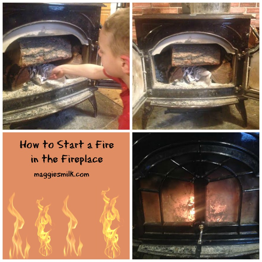 How to Start a Fire in the Fireplace
