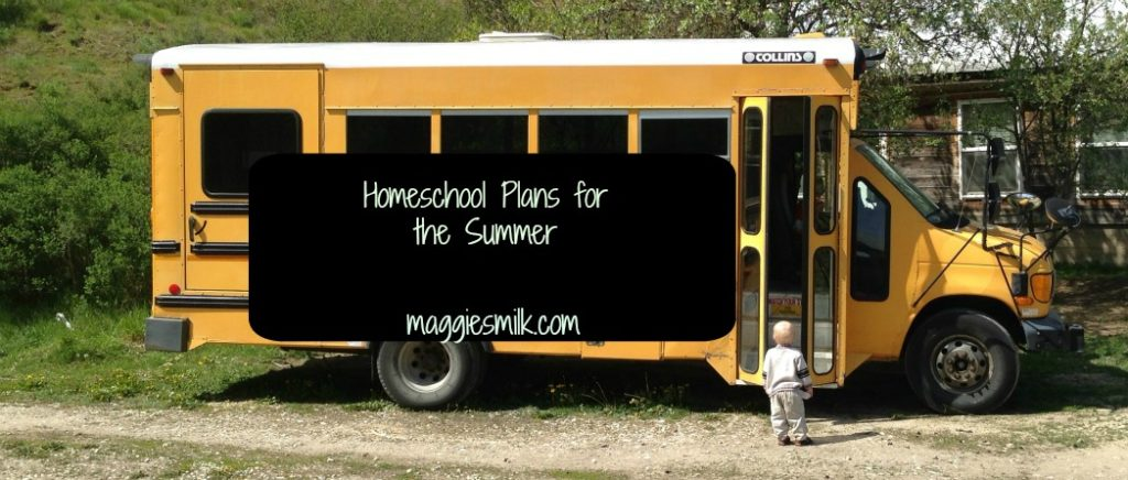 Homeschool plans for the summer. Here's what we'll be learning once school's out.