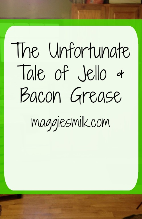 Bacon grease and jello. What a combination. Click through and read my tale.