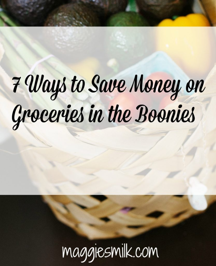 Here's a look at how I save money on groceries when the shopping options are limited.