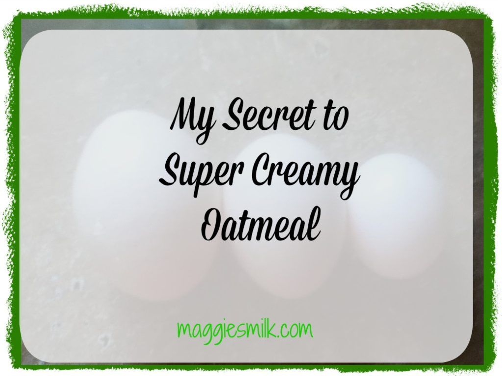 Creamy oatmeal is the best! Here's my secret to getting the perfect texture in each batch.