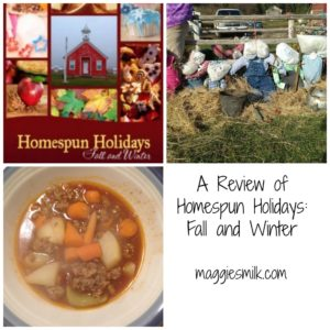Are you in need of some inspiration this holiday season? Check out my review of Homespun Holidays: Fall and Winter. It might be just what you need.