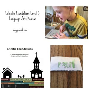 Looking for an old-fashioned language arts currciulum? Give Eclectic Foundations Level B a try!