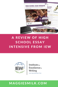 Institute for Excellence in Writing: High School Essay Intensive Review