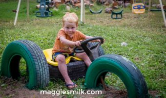 How to Upcycle Tires in the Backyard: Tractor, Tetherball, Table