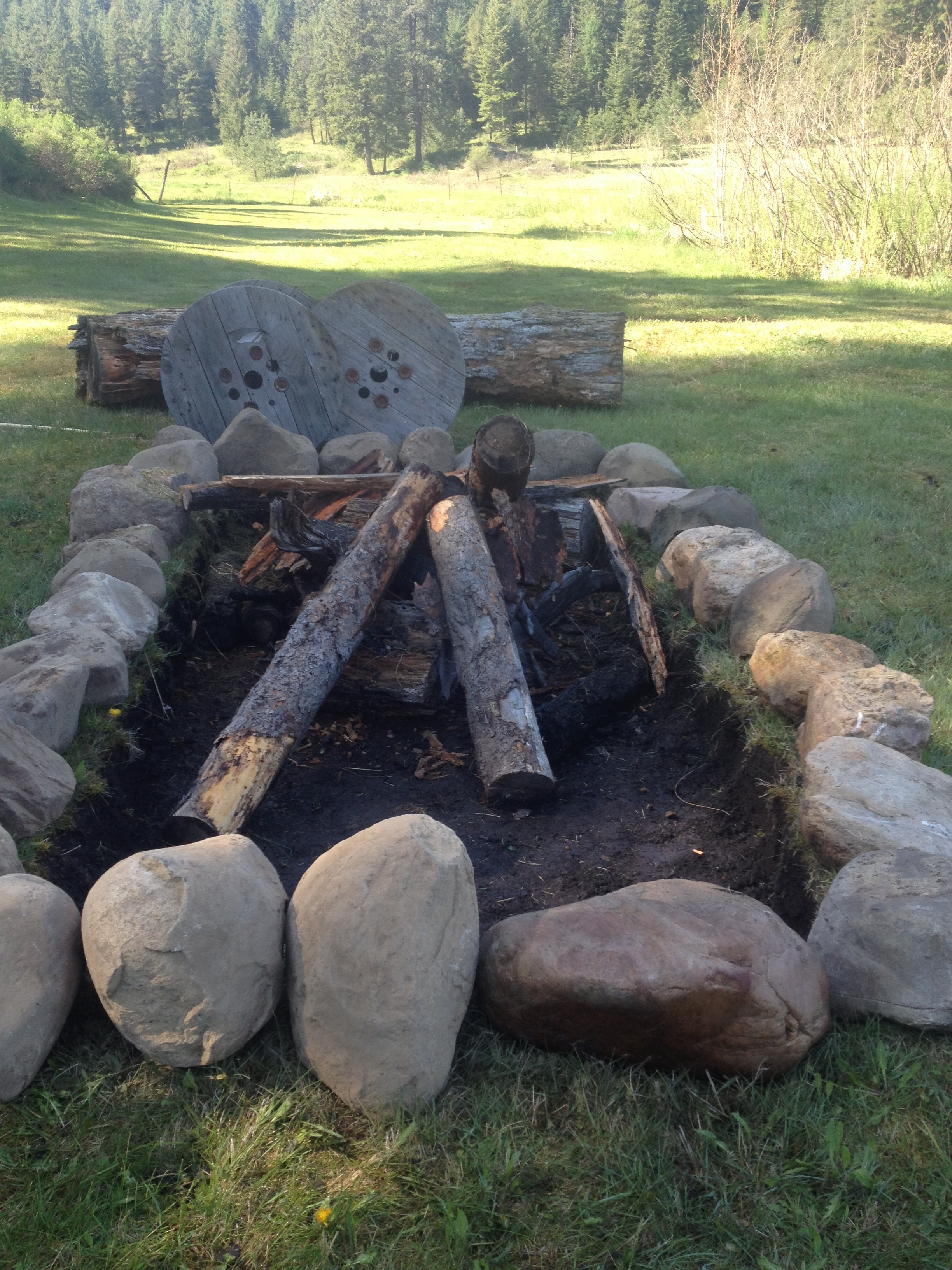 How to Make a Rock Ring Fire Pit Maggie s Milk