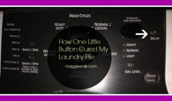 one button cured my laundry pile