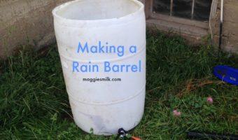making a rain barrel
