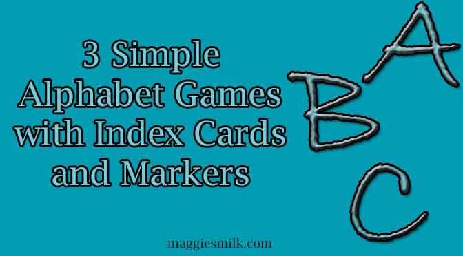 Three Simple Alphabet Games