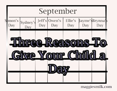 Three Reasons To Give Your Child a Day