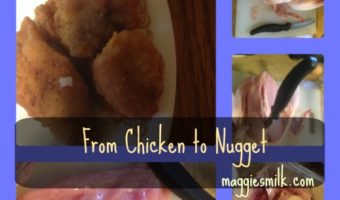 homemade chicken nugget