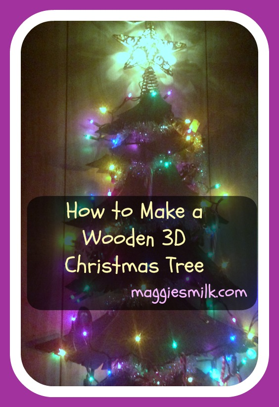 How to Make a Wooden 3D Christmas Tree
