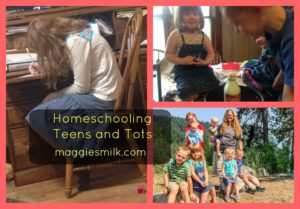 homeschooling teens and tots