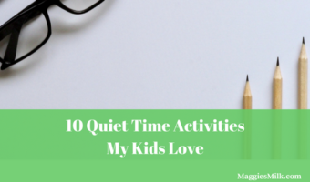 Quiet time activities my kids love.
