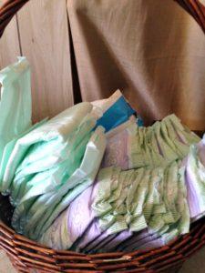 diaper basket plain