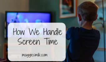 Screen time can be tricky. Here's how we're currently handling it.