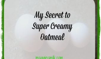 My Secret to Super Creamy Oatmeal