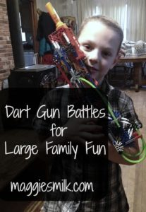 We enjoy dart gun battles for some good family fun. Here's three variations we play.