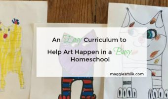 An Easy Curriculum to Help Art Happen in a Busy Homeschool