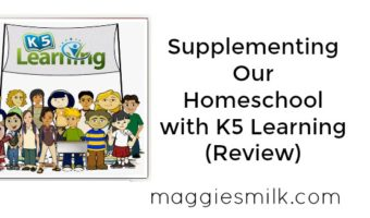 Supplementing Our Homeschool with K5 Learning (Review)