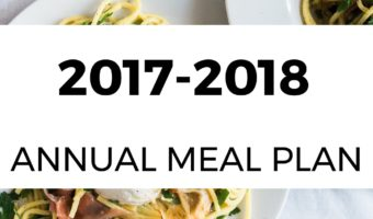 2017-2018 Annual Meal Plan
