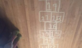 How to Easily Make an Indoor Hopscotch Area
