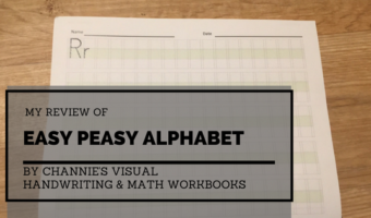 My Review of Easy Peasy Alphabet from Channie's Visual Handwriting & Math Workbooks