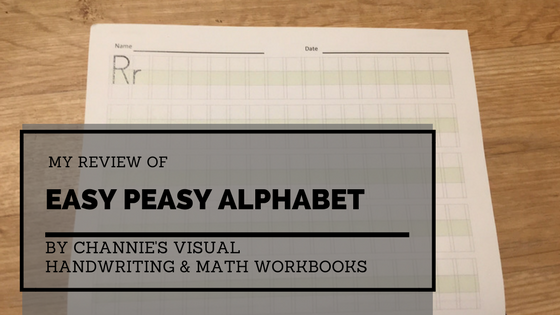 my review of easy peasy alphabet from channie u0026 39 s visual