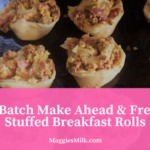 Large Batch Make Ahead & Freezable Stuffed Breakfast Rolls