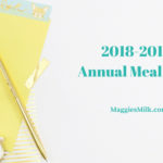 Annual Meal Plan 2018-2019