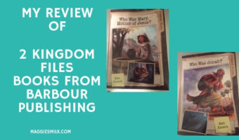 My Review of 2 Kingdom Files Books from Barbour Publishing