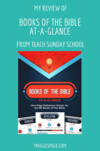My Review of Books of the Bible At-a-Glance from Teach