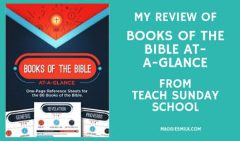 My Review of Books of the Bible At-a-Glance from Teach Sunday School