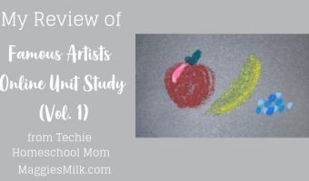 My review of Famous Artists Online Unit Study (Vol. 1)