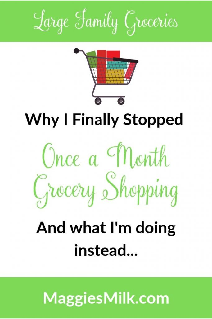 Why I'm switching to weekly grocery shopping