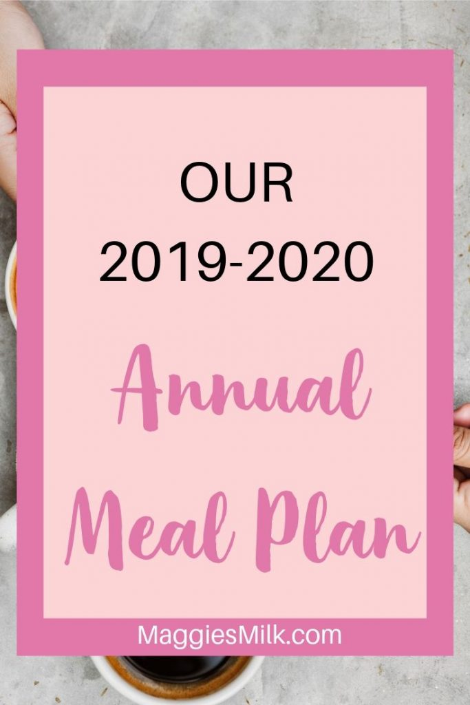 Annual meal plan 2019-2020
